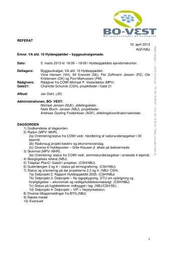 Referat 5. marts 2013 - Hyldenet