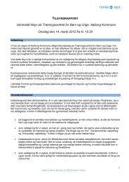 Tilsynsrapport uanmeldt tilsyn - Aalborg Kommune
