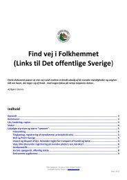 Links til Det offentlige Sverige - Danske Torpare