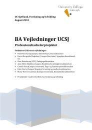 BA Vejledninger UCSJ - University College Sjælland