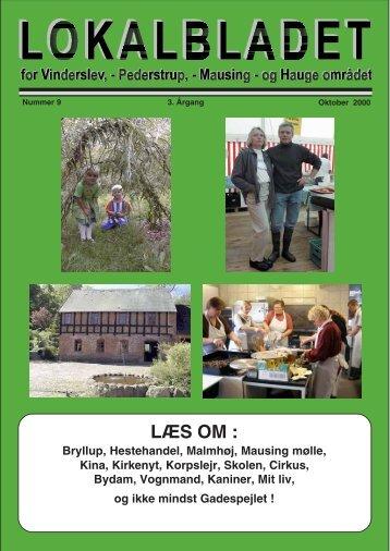 oktober 2000 - Lokalbladet - For Vinderslev-, Pederstrup-, Mausing