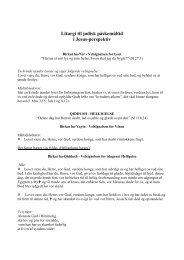 Liturgi til jødisk påskemåltid i Jesus-perspektiv
