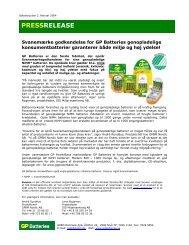 Pressrelease GP Svanen DK - Aurora Group Danmark A/S