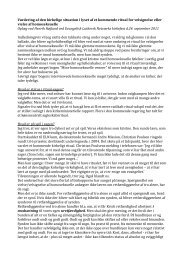 Oplæg om den kirkelige situation - Evangelisk Luthersk Netværk