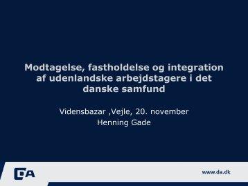 Modtagelse, fastholdelse og integration af ... - Ny i Danmark