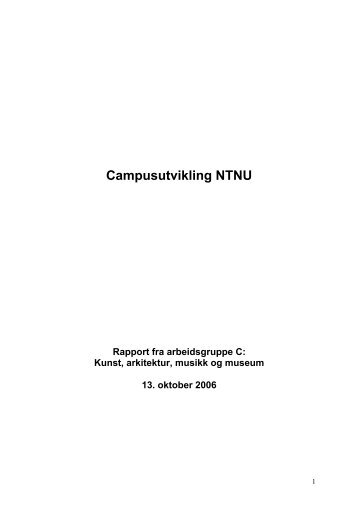 """Rapport fra arbeidsgruppe C: """"Kunst, arkitektur, musikk og ... - NTNU"""