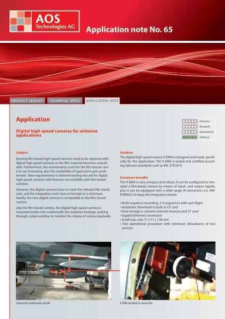 Application note No. 65 - AOS Technologies AG