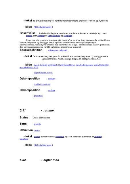 Afrapportering begrebsarbejde Arbejdsgruppe 5 Utilsigtede ... - DPSD