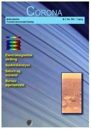 Corona nr. 2/2005 - Trondheim Astronomiske Forening