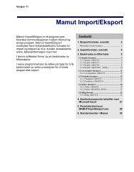 Mamut Import/Eksport
