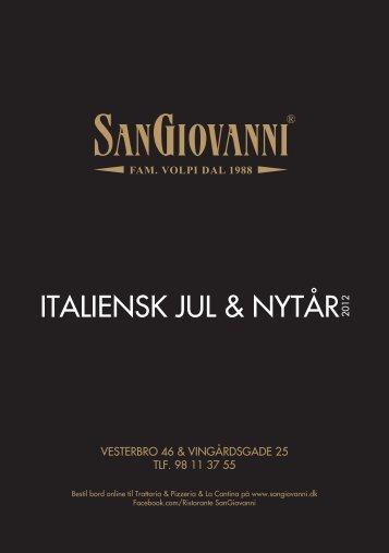 itaLieNsk juL & Nytår 2012 - SanGiovanni