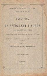 Beretning om De Spedalske i Norge i femaaret 1891 - 1895. - SSB
