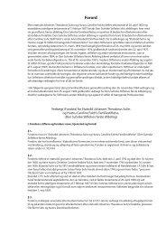 Forord - Den Suhrske Stiftelse