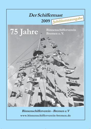 Der Schiffermast 2009 Jubiläumsausgabe 75 Jahre BVB
