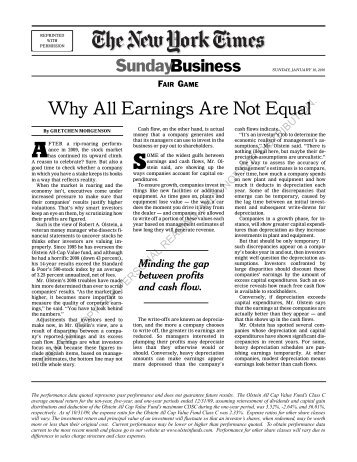 Why All Earnings Are Not Equal - Graham And Doddsville