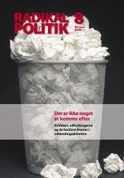 Radikal Politik 8-2006.indd - Radikale Venstre