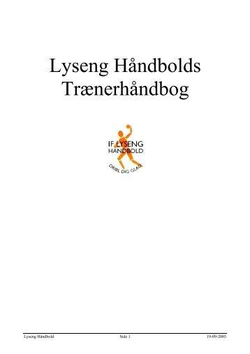 Lyseng Håndbolds Trænerhåndbog - Talkactive.net