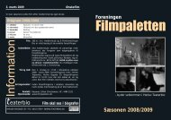 Program 2008/2009 - Filmpaletten
