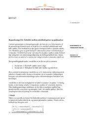 Notat om beregning i rapport - Konkurrence