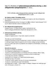 Dato for afholdelse af uddannelsesparathedsvurdering og ... - Tradium