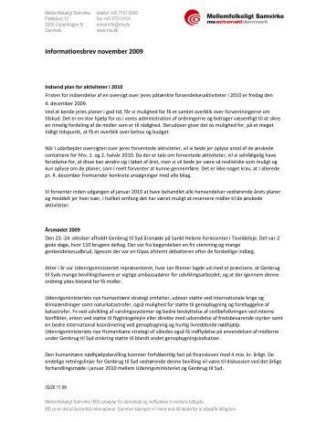Informationsbrev november 2009 - Genbrug til Syd - Gambias Venner