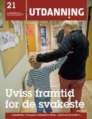 Utdanning nummer 21 2009 - Utdanningsnytt.no