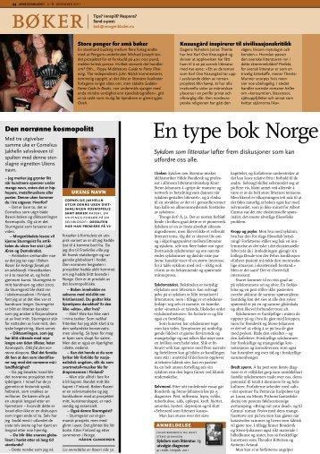 """""""En type bok Norge skulle hatt mye mer av""""."""
