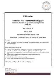 """Uddannelse i """"Refleksiv & Anerkendende Pædagogik"""" - Jørgen Riber"""