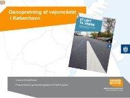 Genopretning af vejområdet i København