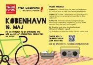 Flyer for Tour de Future København - Mellemfolkeligt Samvirke