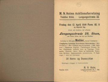 M. N. Holms Auktionsforretning
