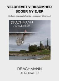 Drachmann Advokater - Veldrevet virksomhed søger ny ejer