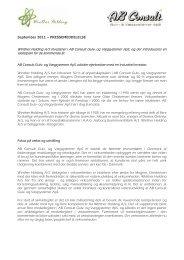 Winther Holding A/S investerer i AB Consult Gulv- og Vægsystemer ...