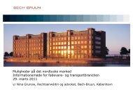 Præsentation ved Nina Grunow, Bech-Bruun