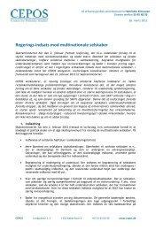 Regerings indsats mod multinationale selskaber - Cepos