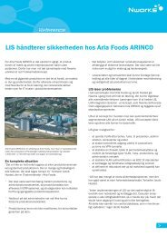 Sikkerhed reference - Arla Foods Arinco side 1 - Capmon A/S