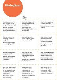 Dialogkort – sæt fokus på arbejdsglæde. - Personaleweb
