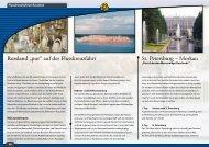 """St. Petersburg – Moskau Russland """"pur"""" auf der Flusskreuzfahrt"""