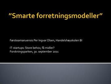 Smarte forretnignsmodeller_Per Ingvar Olsen.pdf - Forskningsparken