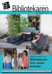 Bibliotekaren som sosial- arbeider - Bibliotekarforbundet