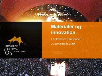 Materialer og innovation