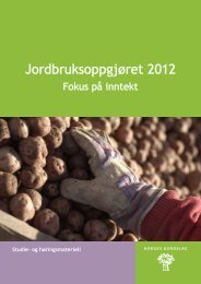 Fokus på inntekt - Norges Bondelag