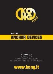 manuale anchor devices 2010:manuale anchor devices - Kong