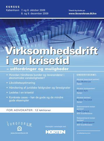 Virksomhedsdrift i en krisetid - IBC Euroforum