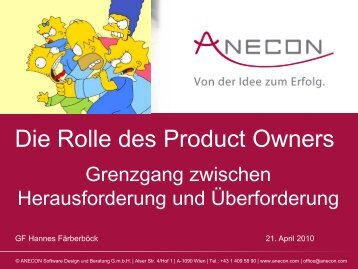 Die Rolle des Product Owners - Anecon