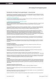 Almindelige forretningsbetingelser - BankNordik