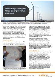 Faktaark om vindenergi i Kina - Energistyrelsen