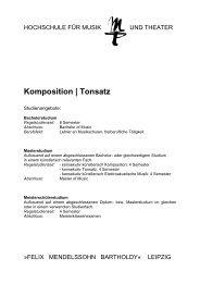 Komposition | Tonsatz - Hochschule für Musik und Theater Leipzig