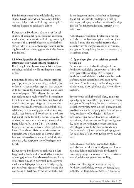 Afgørelser og Udtalelser 2003 - Nasdaq OMX