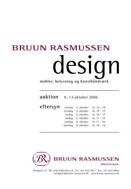 udvalgte møbler - Bruun Rasmussen